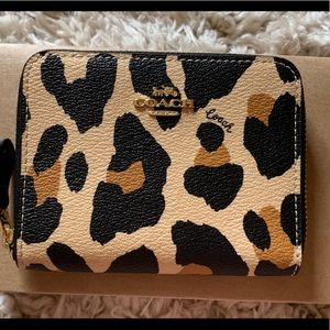 Coach Small Zip Around Wallet With Animal Print
